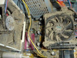 пыль на процессоре