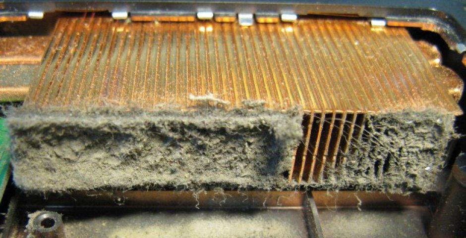 Греется ноутбук? Пыль в ноутбуке.