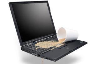 Залил ноутбук